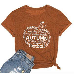 Fall Autumn Rust Orange Graphic Tee